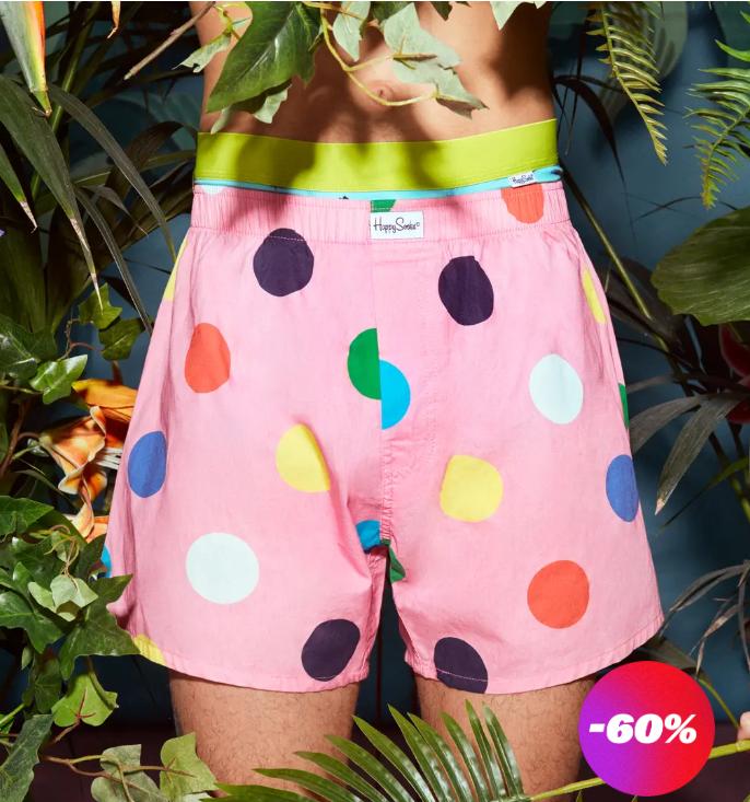 Happy Socks: 60% off all underwear