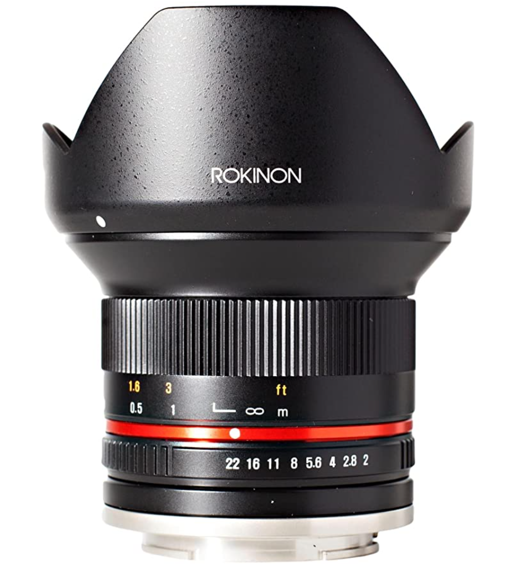 Deal of the day for Prime Members: Rokinon 12mm F2.0 NCS CS Ultra Wide Angle Lens Sony E-Mount (NEX) (Black) (RK12M-E)