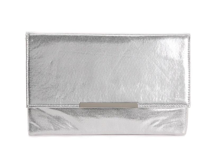 DSW Lulu Townsend Shimmer Clutch (Silver) $4.98