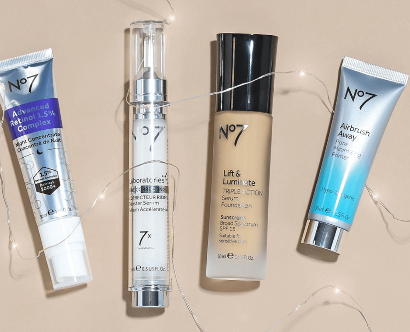 No7 Beauty: Buy 1, get 1 50% Off Sale