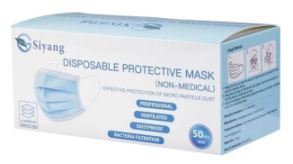 Newegg: Disposable Protective Mask - 50 pcs / box for $9.99