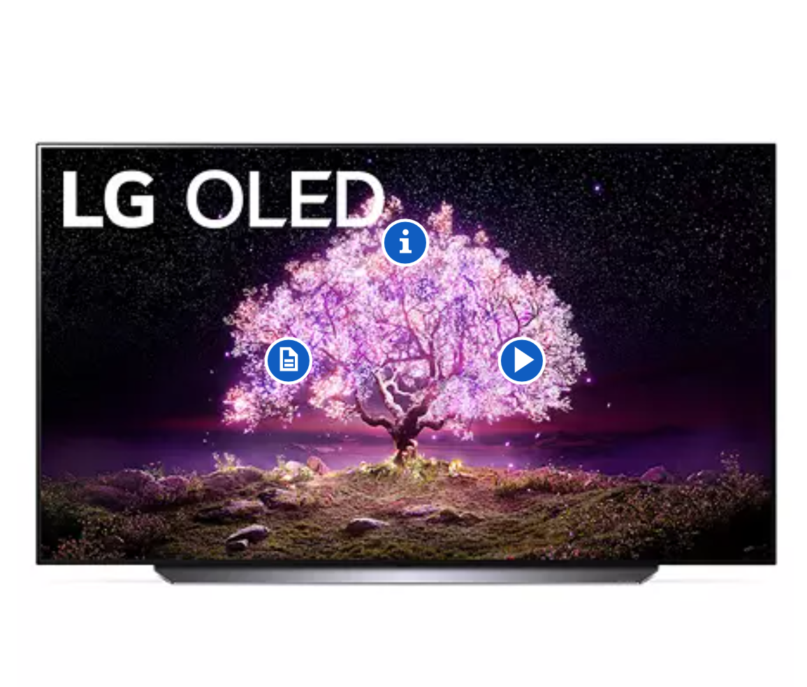 "LG 77"" Class 4K Ultra HD Smart OLED TV w/ThinQ AI - OLED77C1AUB"