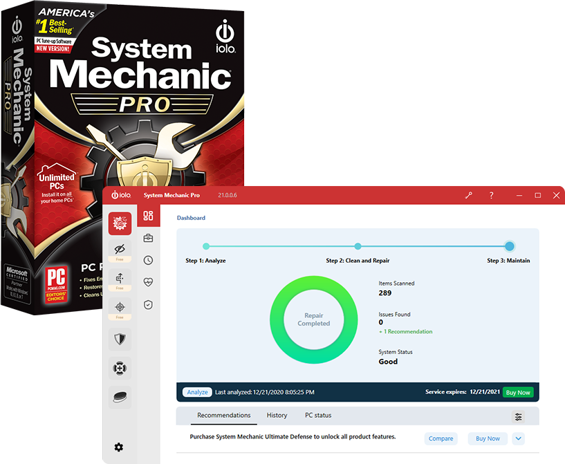 iolo: Extra $30 Off on System Mechanic 20 Pro