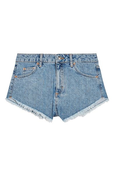 TOPSHOP | Kiri Frayed Denim Shorts | Nordstrom Rack