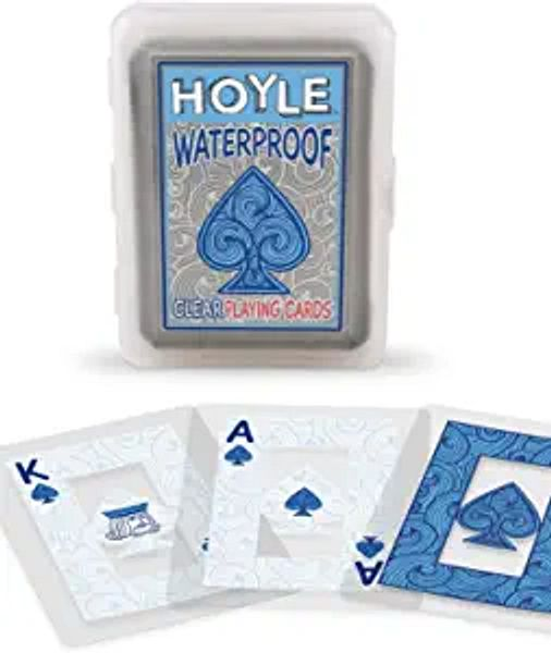 Hoyle Waterproof Clear Playing Cards | Amazon