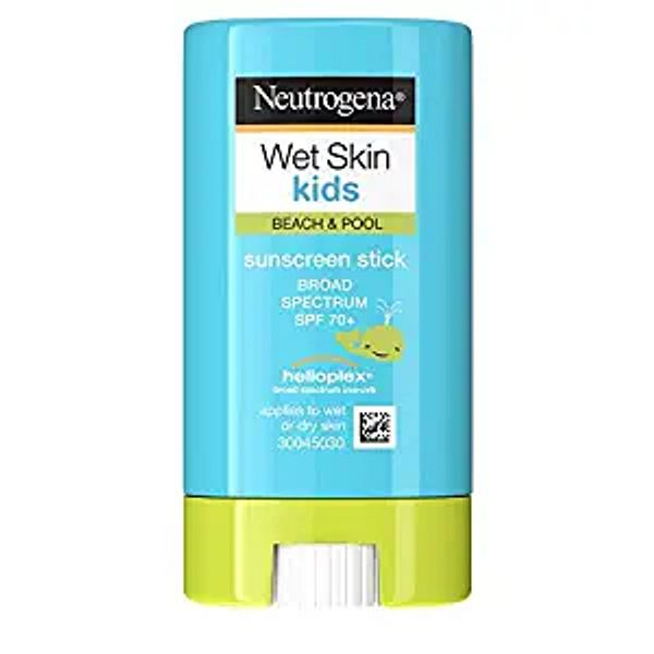 Neutrogena Wet Skin Kids Water Resistant Sunscreen Stick, Kids Sunscreen for Face and Body, Broad Spectrum SPF 70 UVA/UVB Sun Protection, Oil-Free & Hypoallergenic, 0.47 oz