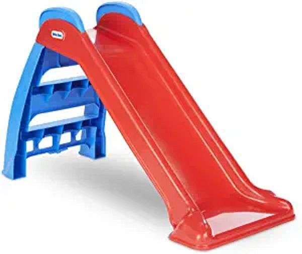 Little Tikes First Slide Toddler Slide, Easy Set Up Playset for Indoor Outdoor Backyard, Easy to Store, Safe Toy for Toddler, Slip And Slide For Kids (Red/Blue) | Amazon