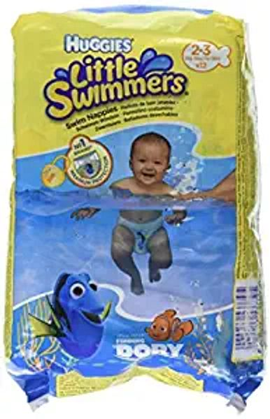 Huggies Little Swimmers Disposable Swim Diapers, X-Small (7lb-18lb.), 12-Count   Amazon