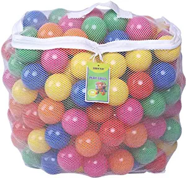 Click N' Play Pack of 200 Phthalate Free BPA Free Crush Proof Plastic Ball, Pit Balls - 6 Bright Colors in Reusable and Durable Storage Mesh Bag with Zipper | Amazon