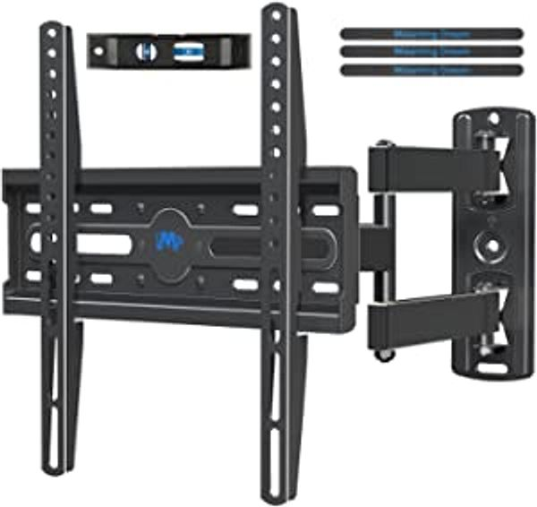 Mounting Dream TV Mount TV Wall Mount Swivel and Tilt for 26-55 Inch TV, Perfect Center Design, Full Motion TV Wall Mount Bracket with Articulating Arm up to VESA 400x400mm, 60 lbs, MD2377
