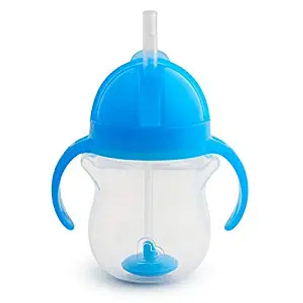 Munchkin Any Angle Click Lock Weighted Straw Trainer Cup, Blue, 7oz   Amazon