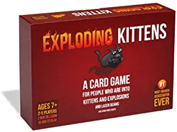Exploding Kittens Card Game - Family-Friendly Party Games - Card Games for Adults, Teens & Kids | Amazon
