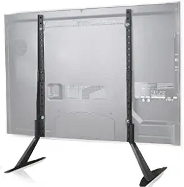 WALI TVS001 Universal TV Stand Table Top for Most 22 to 65 inch LCD Flat Screen TV, VESA up to 800 by 400mm , 22 - 65 inch