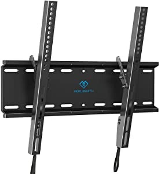 Tilting TV Wall Mount Bracket Low Profile for Most 23-55 Inch LED, LCD, OLED, Plasma Flat Screen TVs with VESA 400x400mm Weight up to 115lbs by PERLESMITH, Black