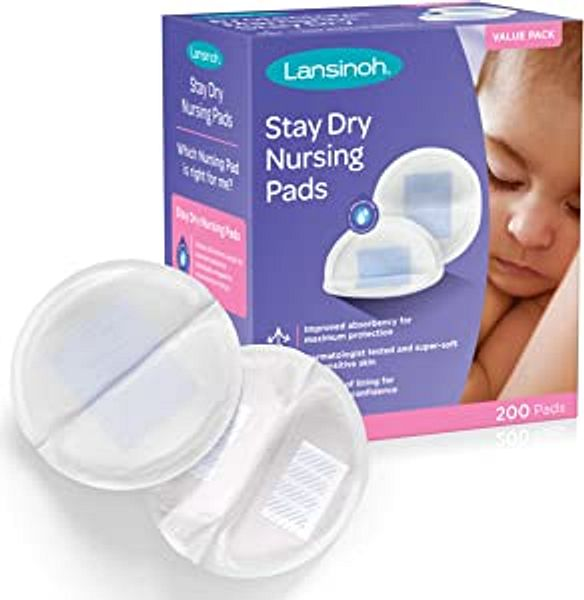 Lansinoh Stay Dry Disposable Nursing Pads for Breastfeeding, 200 Count   Amazon