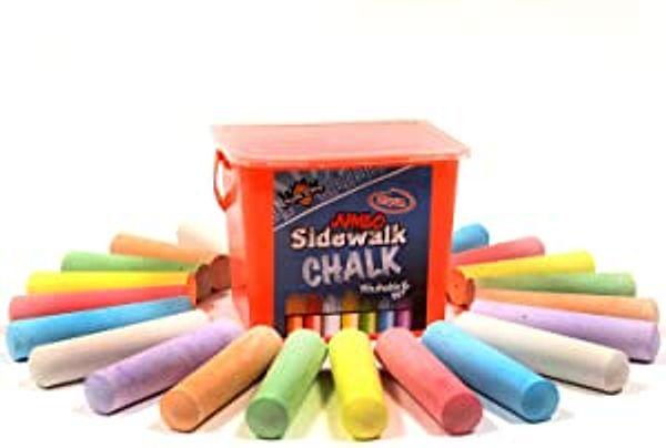 Chalk City Sidewalk Chalk, 20 Count, 7 Different Colors, Jumbo Chalk, Non-Toxic, Washable, Art Set | Amazon