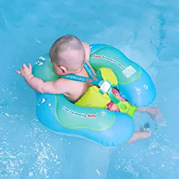 Free Swimming Baby Inflatable Baby Swim Float Children Waist Ring Inflatable Pool Floats Toys Swimming Pool Accessories for The Age of 3-72 Months(Blue, S) | Amazon