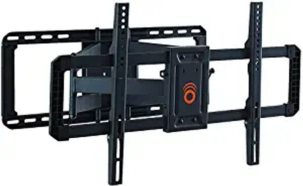"""ECHOGEAR Full Motion TV Wall Mount for Big TVs Up to 90"""" TVs - Smooth Swivel, Tilt, & Extension - Universal Design Works with Samsung, Vizio, TCL & More - Includes Drilling Template - EGLF2"""