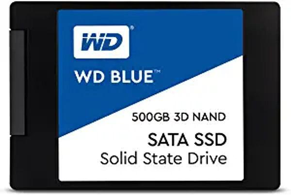 "Western Digital 500GB WD Blue 3D NAND Internal PC SSD - SATA III 6 Gb/s, 2.5""/7mm, Up to 560 MB/s - WDS500G2B0A | Amazon"