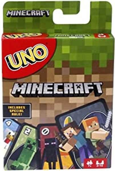 Mattel Games UNO Minecraft Card Game, Now UNO fun includes the world of Minecraft, Multicolor, Basic Pack | Amazon