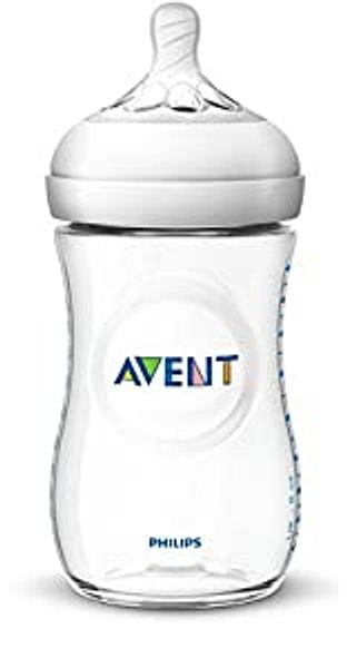 Philips Avent Natural Baby Bottle, Clear, 9oz, 1pk, SCF013/17