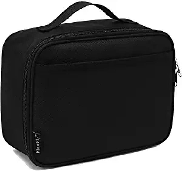 Kids Lunch box Insulated Soft Bag Mini Cooler Back to School Thermal Meal Tote Kit for Girls, Boys by FlowFly,Black