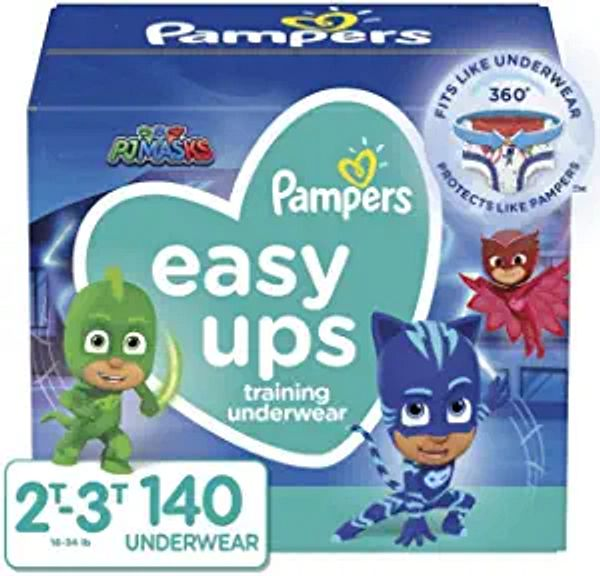 Pampers Easy Ups Training Pants Boys and Girls, 2T-3T (Size 4), 140 Count