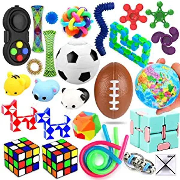 28 Pack Sensory Toys Set, Relieves Stress and Anxiety Fidget Toy for Children Adults, Special Toys Assortment for Birthday Party Favors, Classroom Rewards Prizes, Carnival, Piñata Goodie Bag Fillers | Amazon