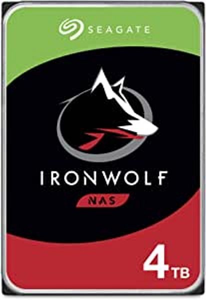 Seagate IronWolf 4TB NAS Internal Hard Drive HDD – CMR 3.5 Inch SATA 6Gb/s 5900 RPM 64MB Cache for RAID Network Attached Storage – Frustration Free Packaging (ST4000VN008) | Amazon