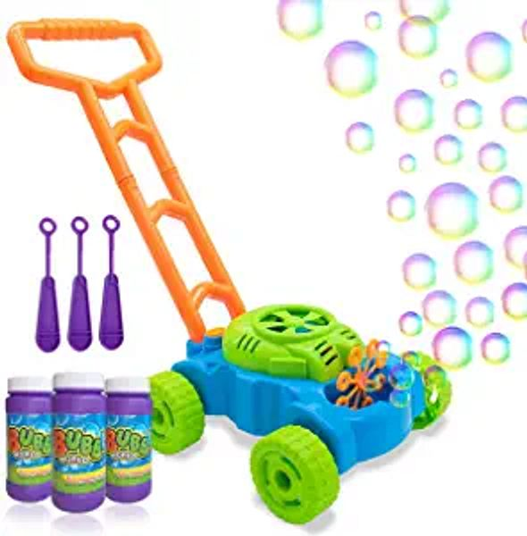 Lydaz Bubble Mower for Toddlers, Kids Bubble Blower Machine Lawn Games, Summer Outdoor Push Toys, Birthday Toy Gifts for Preschool Baby Boys Girls | Amazon