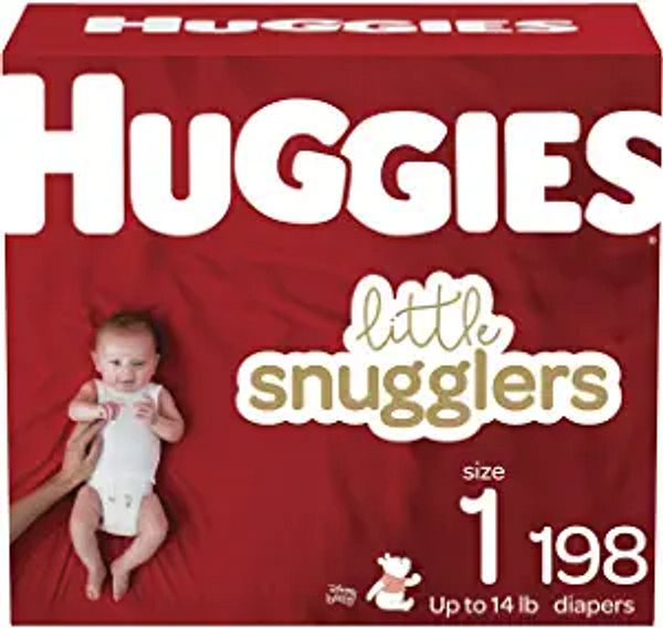 Huggies Little Snugglers Baby Diapers, Size 1, 198 Ct, One Month Supply   Amazon