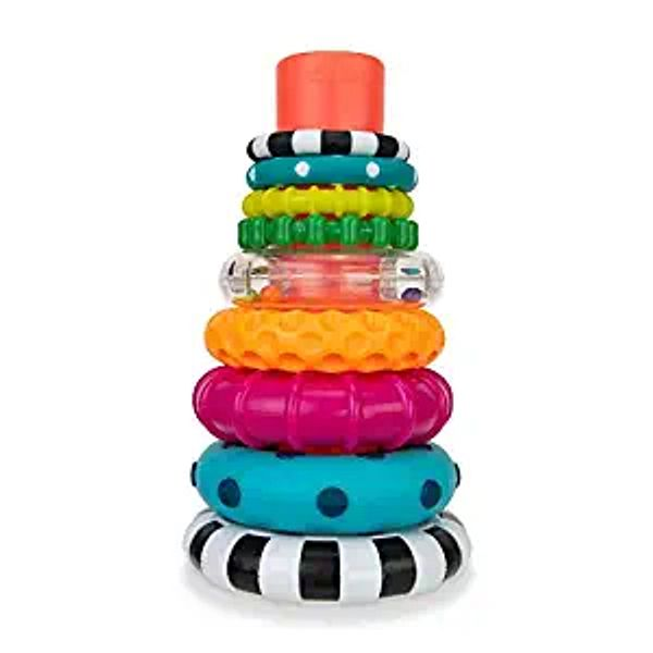 Sassy Stacks of Circles Stacking Ring STEM Learning Toy, 9 Piece Set, Age 6+ Months | Amazon