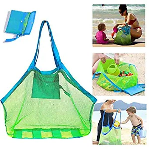 SupMLC Mesh Beach Bag Extra Large Beach Bags and Totes Tote Backpack Toys Towels Sand Away for Holding Beach Toys Children' Toys Market Grocery Picnic Tote | Amazon