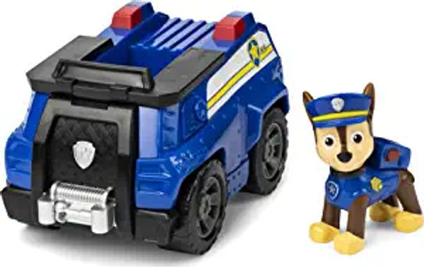 Paw Patrol, Chase's Patrol Cruiser Vehicle with Collectible Figure, for Kids Aged 3 and Up | Amazon