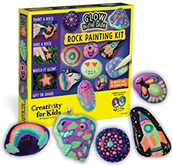 Creativity for Kids Glow In The Dark Rock Painting Kit - Paint 10 Rocks with Water Resistant Glow Paint - Crafts for Kids | Amazon