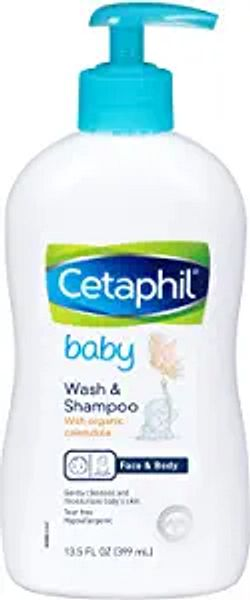 Cetaphil Baby Wash & Shampoo with Organic Calendula  Tear Free   Paraben, Colorant and Mineral Oil Free   13.5 Fl. Oz