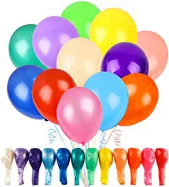 RUBFAC 120 Assorted Color Balloons 12 Inches 12 Kinds of Rainbow Party Latex Balloons, Latex Balloons for Party Decoration, Birthday Party Supplies or Arch Decoration | Amazon