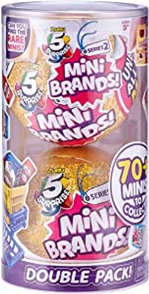 5 Surprise Mini Brands Mystery Capsule Real Miniature Brands Collectible Toy (2 Pack) (PVC Tube Packaging) by ZURU, Gold | Amazon