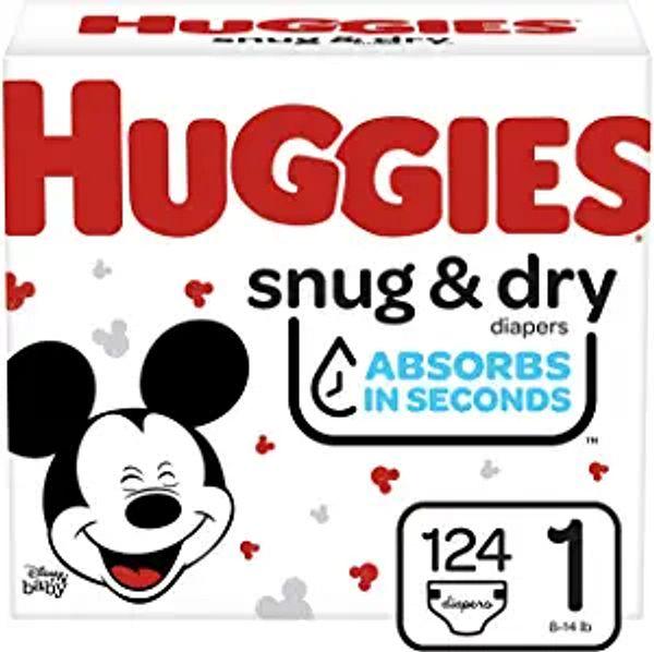 Huggies Snug & Dry Diapers, Size 1, 124 Ct | Amazon