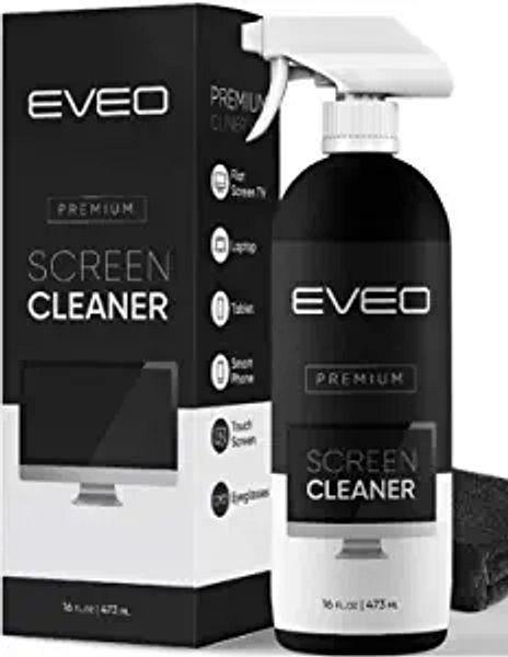Screen Cleaner Spray (16oz) - Large Screen Cleaner Bottle - TV Screen Cleaner, Computer Screen Cleaner, for Laptop, Phone, Ipad - Computer Cleaning kit Electronic Cleaner - Microfiber Cloth Included