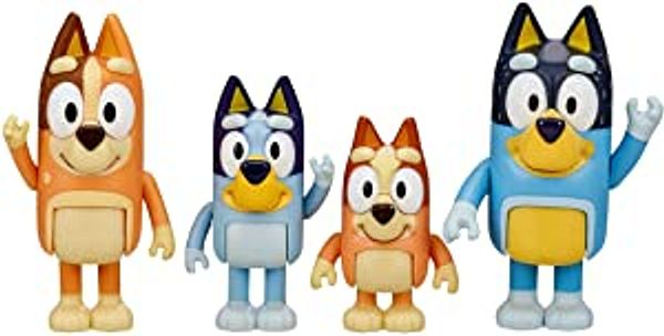 """Bluey and Friends 4 Pack of 2.5-3"""" Poseable Figures"""