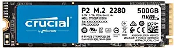 Crucial P2 500GB 3D NAND NVMe PCIe M.2 SSD Up to 2400MB/s - CT500P2SSD8 | Amazon