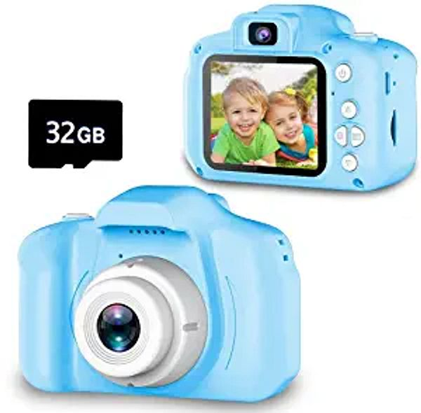 Seckton Upgrade Kids Selfie Camera, Christmas Birthday Gifts for Boys Age 3-9, HD Digital Video Cameras for Toddler, Portable Toy for 3 4 5 6 7 8 Year Old Boy with 32GB SD Card-Blue | Amazon