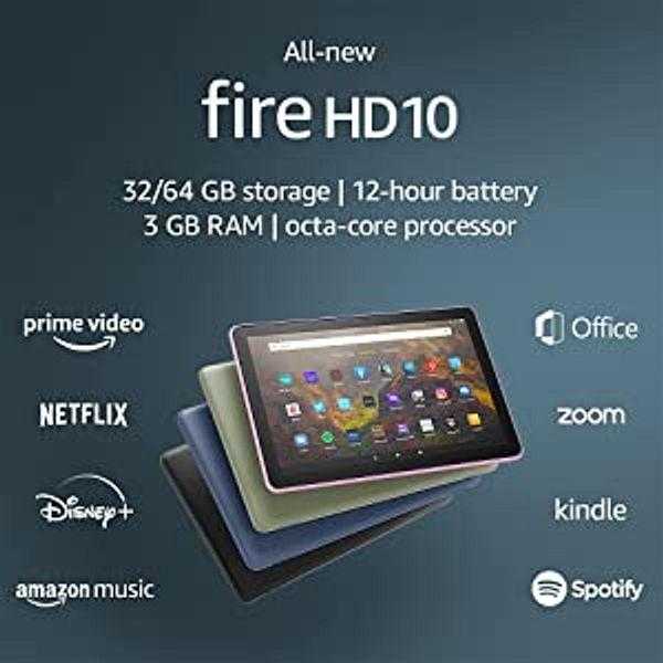 """All-new Fire HD 10 tablet, 10.1"""", 1080p Full HD, 32 GB, Black   Amazon"""