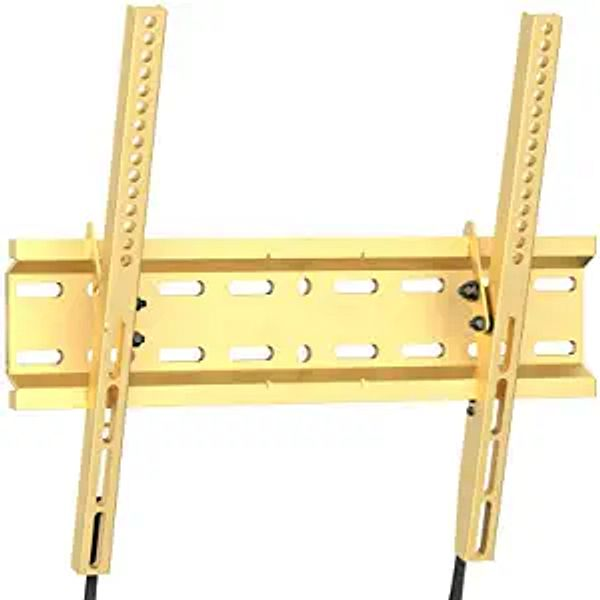 Tilting TV Wall Mount Bracket Low Profile for Most 23-55 Inch LED, LCD, OLED, Plasma Flat Screen TVs with VESA 400x400mm Weight up to 115lbs by PERLESMITH, Gold PSMTK1G