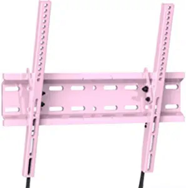 Tilting TV Wall Mount Bracket Low Profile for Most 23-55 Inch LED, LCD, OLED, Plasma Flat Screen TVs with VESA 400x400mm Weight up to 115lbs by PERLESMITH, Pink PSMTK1P