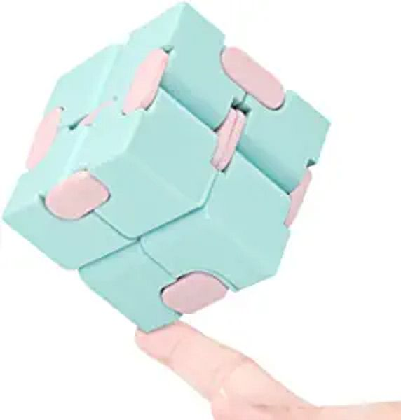WUQID Infinity Cube Fidget Toy Stress Relieving Fidgeting Game for Kids and Adults,Cute Mini Unique Gadget for Anxiety Relief and Kill Time (Macaron Blue) | Amazon
