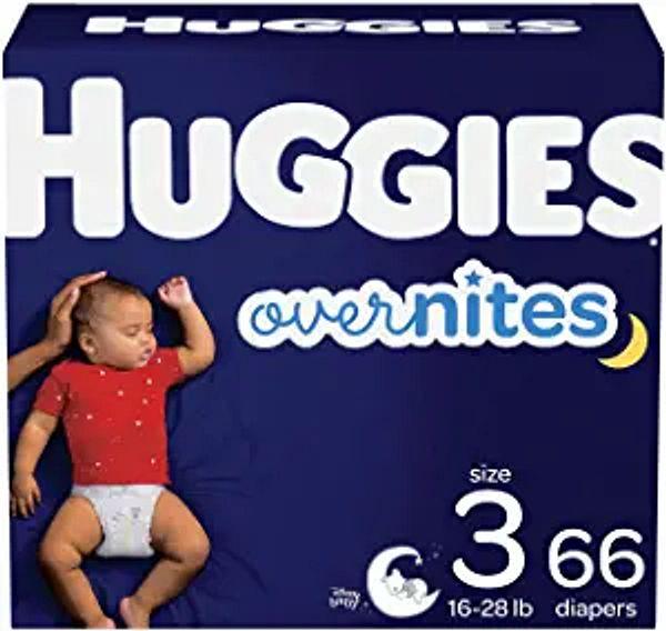 Nighttime Baby Diapers Size 3, 66 Ct, Huggies Overnites   Amazon