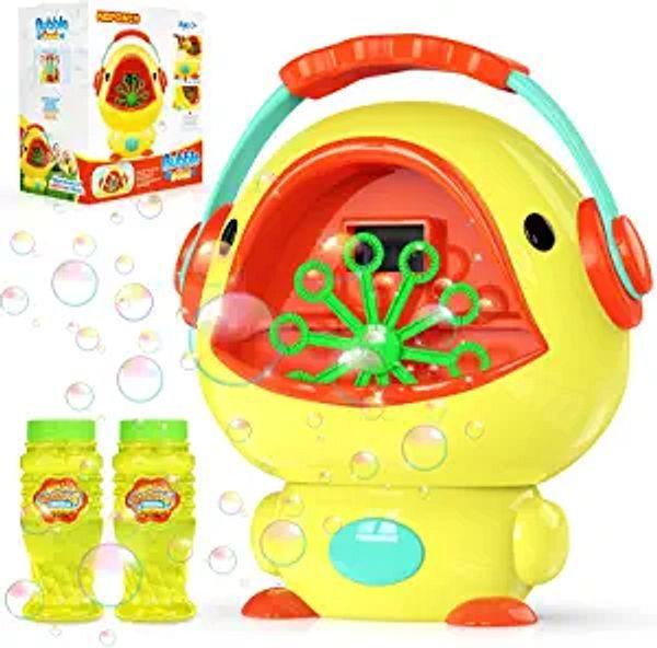 NBPOWER Bubble Machine for Kids, Bubble Machine for Parties Blows 1000+ Bubbles/Min Automatic Bubble Blower Maker for Toddler