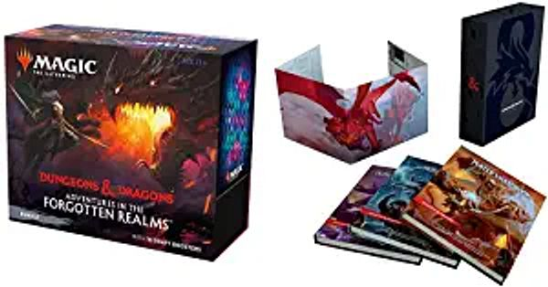 Bundle of 1 D&D Core Rulebook Gift Set (Special Edition) + 1 Adventures in The Forgotten Realms MTG Bundle